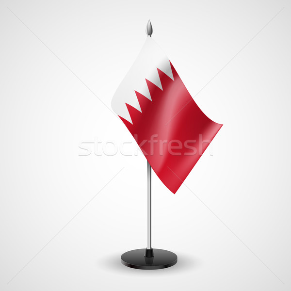 Tabela bandeira Bahrein mundo conferência secretária Foto stock © dvarg