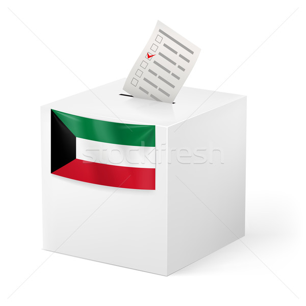 Ballot box with voting paper. Kuwait Stock photo © dvarg
