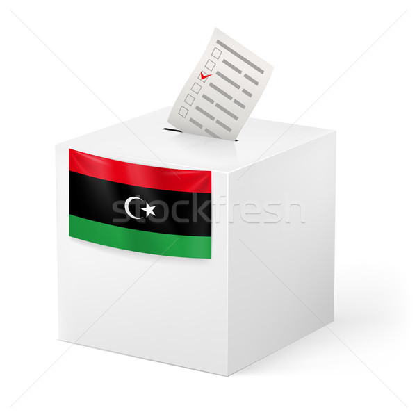 Ballot box with voting paper. Libya Stock photo © dvarg