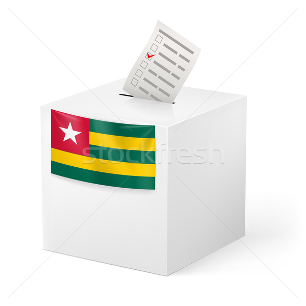 Ballot box with voting paper. Togo Stock photo © dvarg
