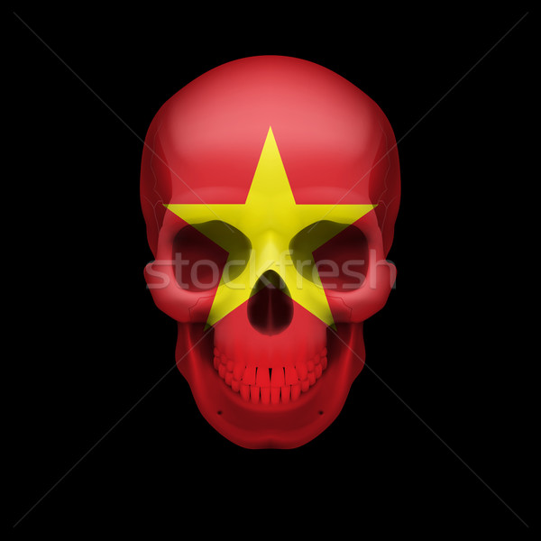 Vietnamese flag skull Stock photo © dvarg