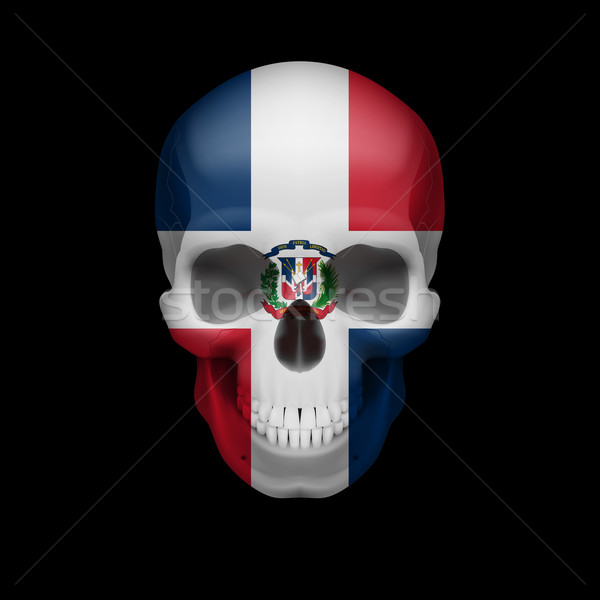 Dominican Republic flag skull Stock photo © dvarg