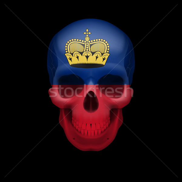 Skull with Liechtenstein flag Stock photo © dvarg