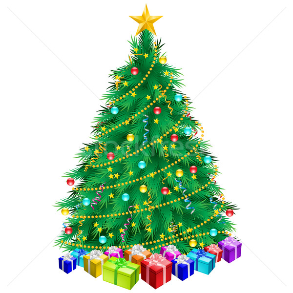 Christmas tree and gifts  Stock photo © dvarg