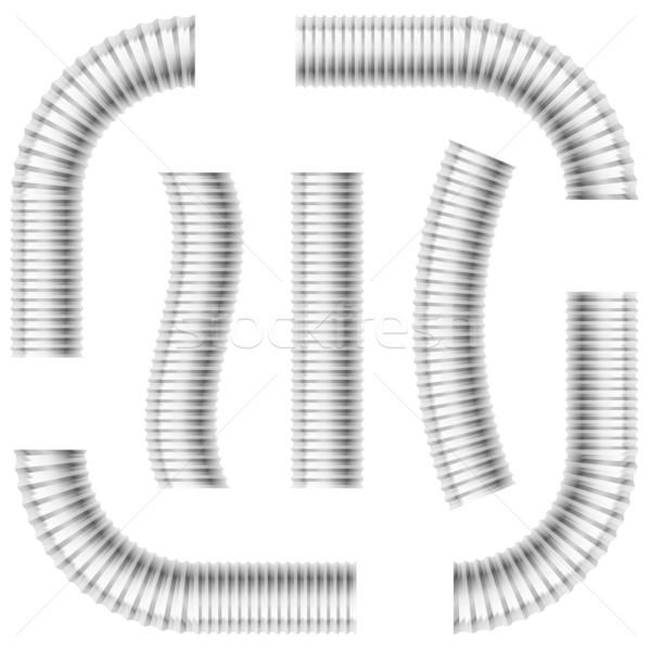 Fuga tubi set grigio illustrazione bianco Foto d'archivio © dvarg