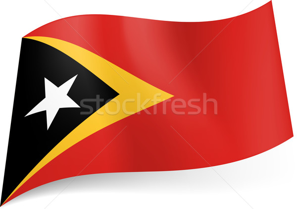 Stock photo: State flag of East Timor.