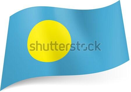 フラグ パラオ 黄色 サークル 青 世界 ストックフォト © dvarg