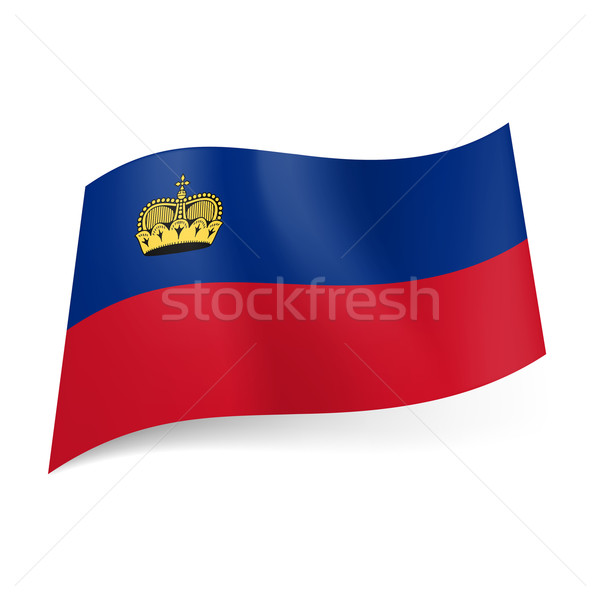 State flag of Liechtenstein Stock photo © dvarg