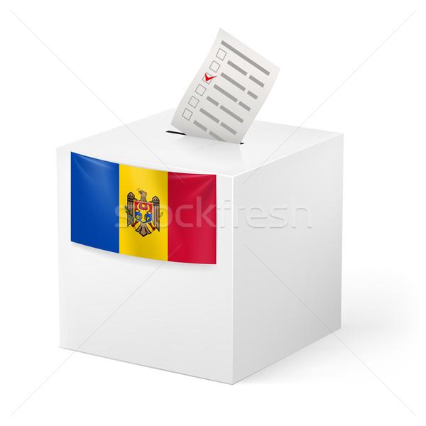 Photo stock: Scrutin · boîte · papier · Moldavie · élection