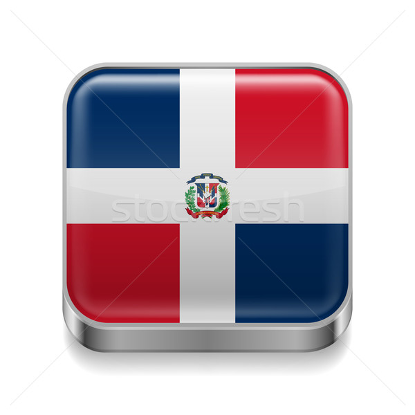 Metal  icon of Dominican Republic Stock photo © dvarg