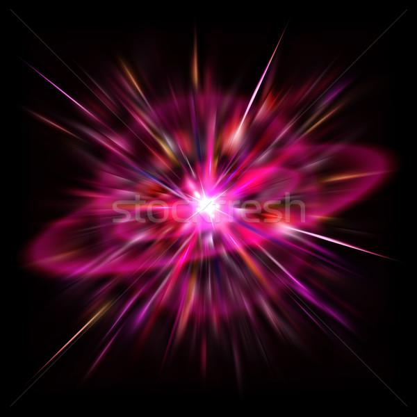 пространстве вспышка ярко Flash красный сверхновая звезда Сток-фото © dvarg