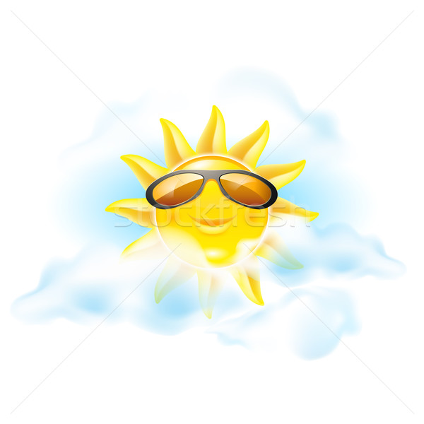 Cartoon sun Stock photo © dvarg