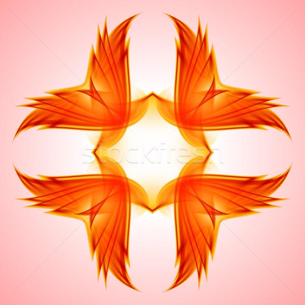 Abstractie Rood symbool illustratie ontwerp business Stockfoto © dvarg