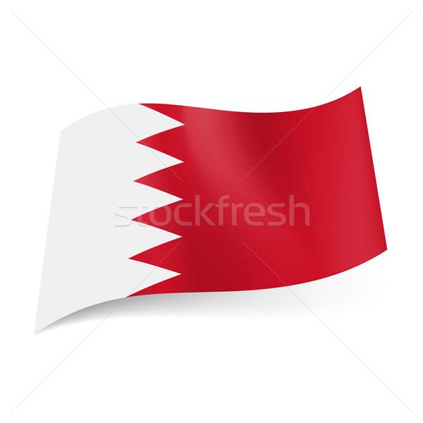 Bandeira Bahrein branco vermelho campos projeto Foto stock © dvarg
