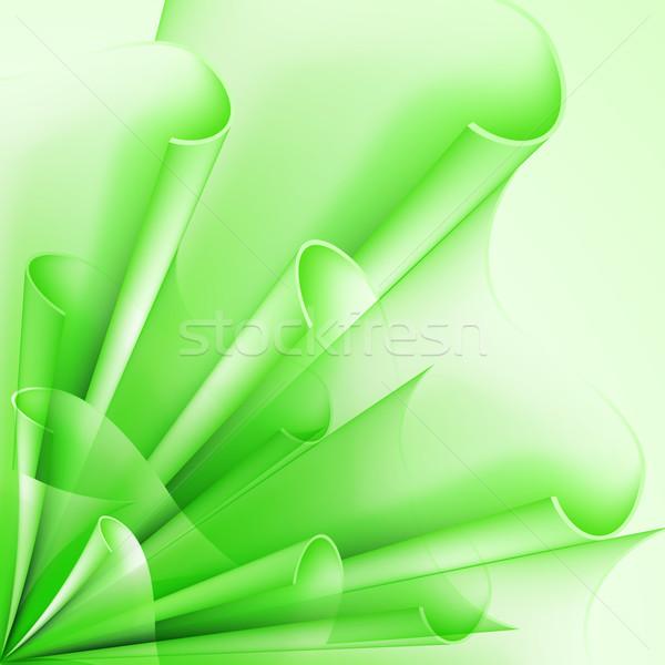 Zielone flagi streszczenie banderą elementy projektu Zdjęcia stock © dvarg