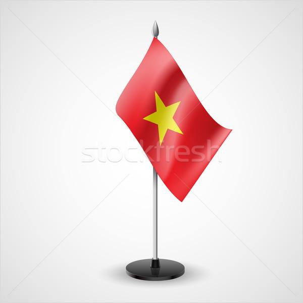 таблице флаг Вьетнам Мир конференции столе Сток-фото © dvarg