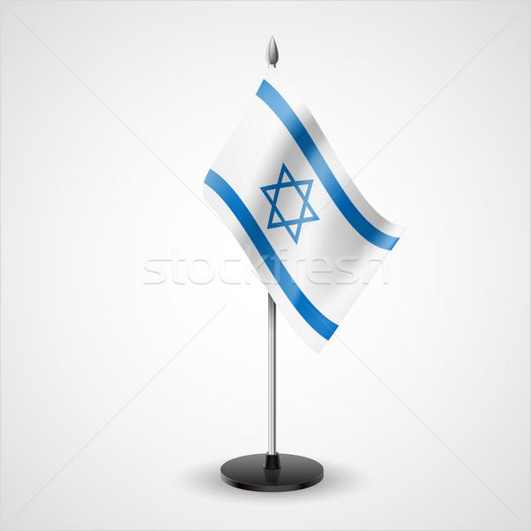 Tabelle Flagge Israel Welt Konferenz Schreibtisch Stock foto © dvarg