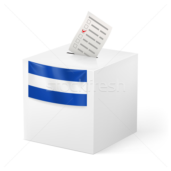 Ballot box with voting paper. El Salvador Stock photo © dvarg