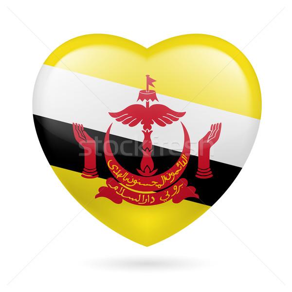 Heart icon of Brunei Stock photo © dvarg