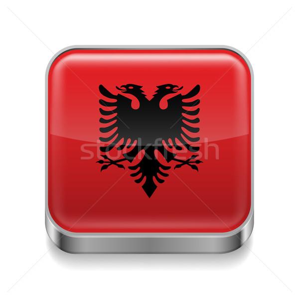 Metal  icon of Albania Stock photo © dvarg