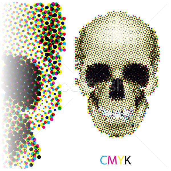 Halftone skull Stock photo © dvarg