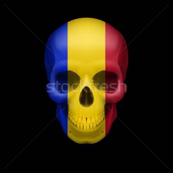 Romanian flag skull Stock photo © dvarg