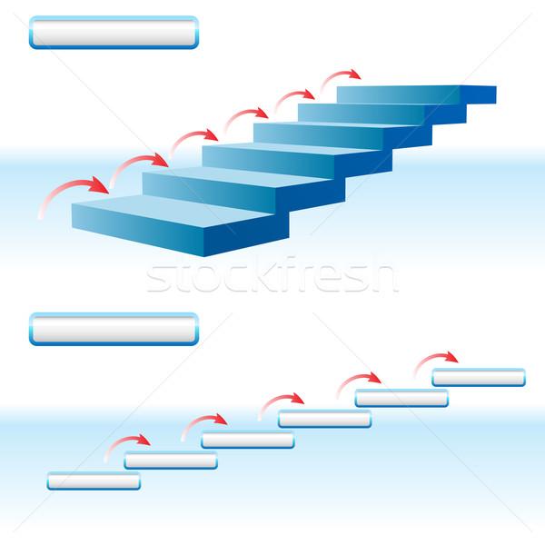стрелка наверх детали иллюстрация белый синий Сток-фото © dvarg
