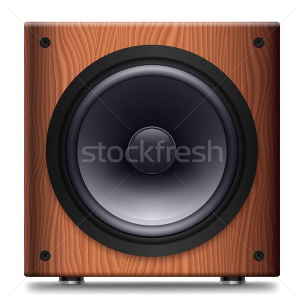 Stereo Lautsprecher einfache keine decken weiß Stock foto © dvarg