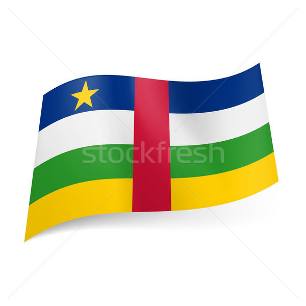 State flag of Central African Republic Stock photo © dvarg