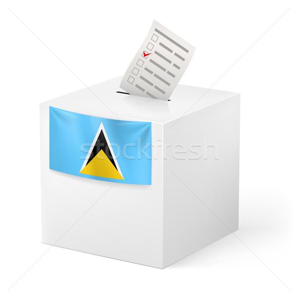 Ballot box with voting paper. Saint Lucia Stock photo © dvarg