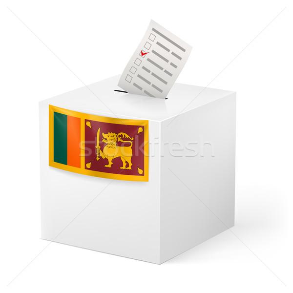 Cédula caixa votação papel Sri Lanka eleição Foto stock © dvarg