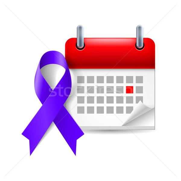 Indigo awareness ribbon and calendar Stock photo © dvarg
