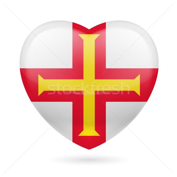 Heart icon of Guernsey Stock photo © dvarg