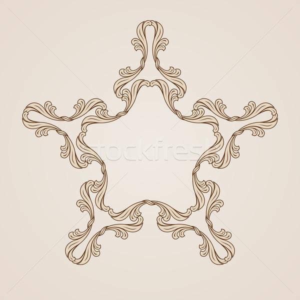 Kwiatowy wzór streszczenie wzór kwiatowy świetle ciemne Zdjęcia stock © dvarg