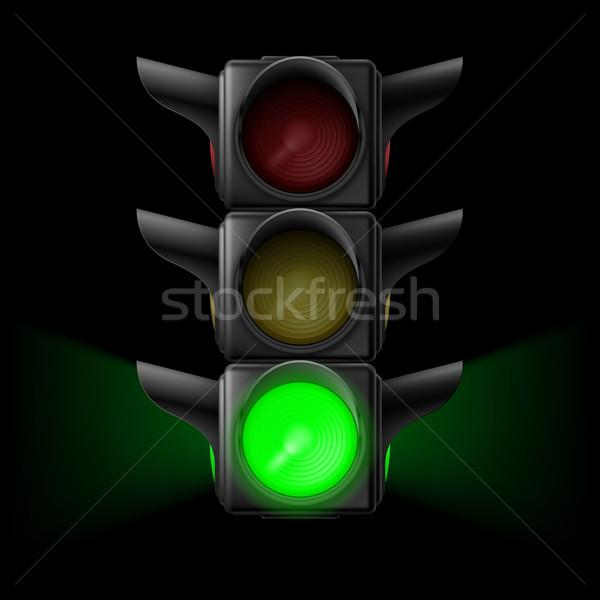 Traffic light with green on Stock photo © dvarg