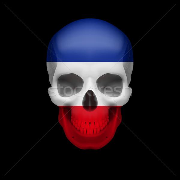 Yugoslavian flag skull Stock photo © dvarg