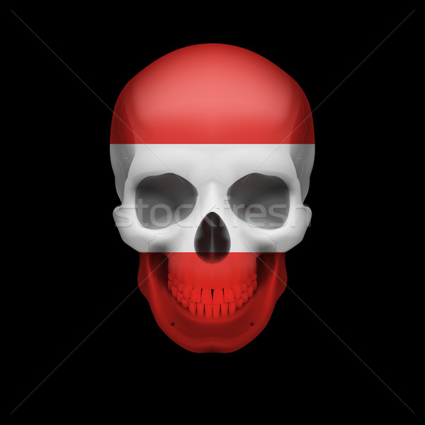 Austrian flag skull Stock photo © dvarg