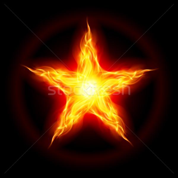 Fire star Stock photo © dvarg