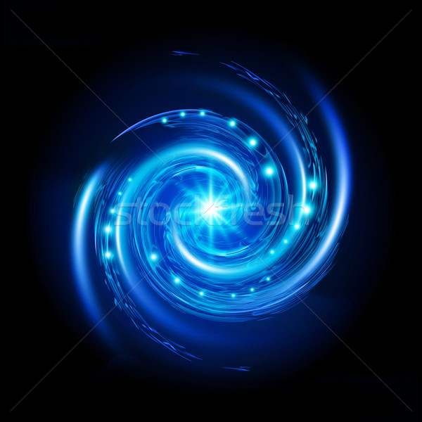 Blue Spiral Vortex Stock photo © dvarg