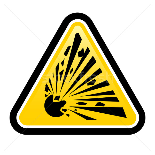 Explosive Hazard Sign Stock photo © dvarg