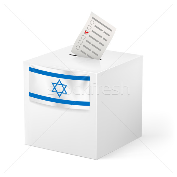 Ballot box with voicing paper. Israel. Stock photo © dvarg