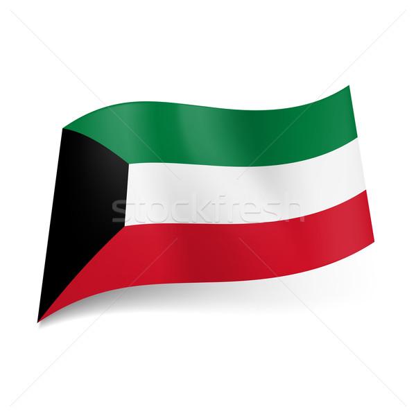 Bandeira Kuweit verde branco vermelho horizontal Foto stock © dvarg