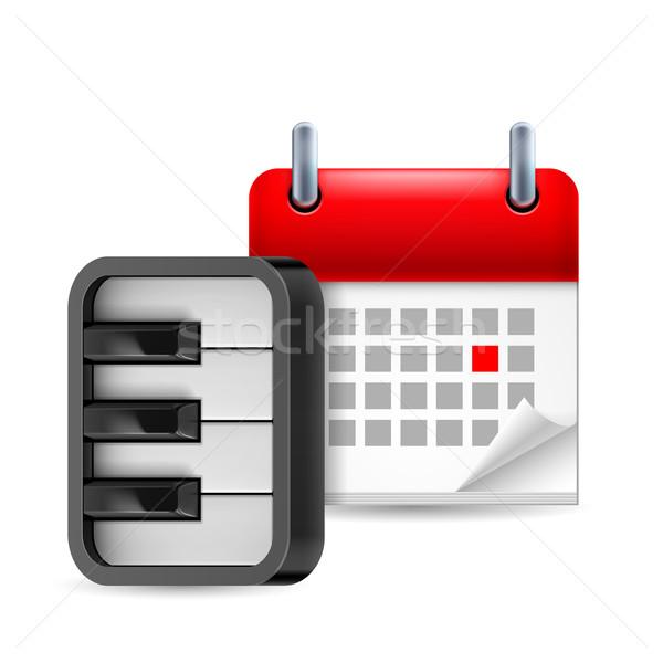 Piano and calendar icon Stock photo © dvarg