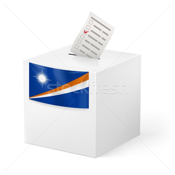 Oylama kutu kâğıt seçim Stok fotoğraf © dvarg