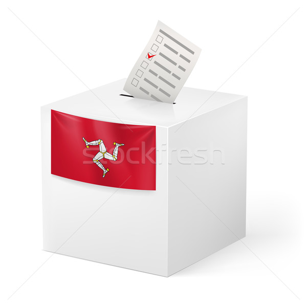 Ballot box with voting paper. Isle of Man Stock photo © dvarg