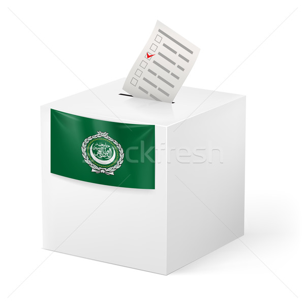 Ballot box with voting paper. Arab League Stock photo © dvarg