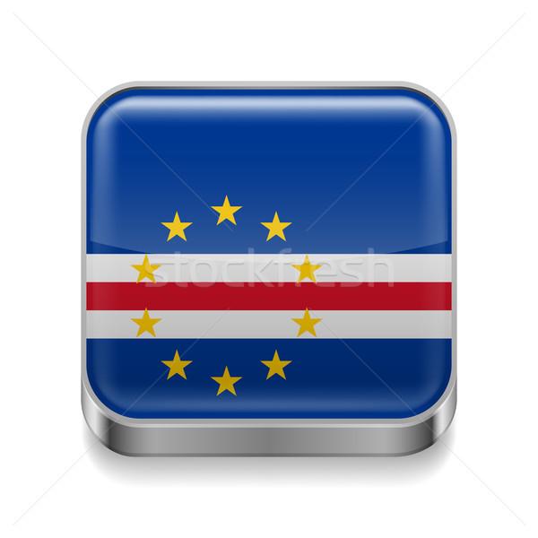 Stock photo: Metal  icon of Cape Verde