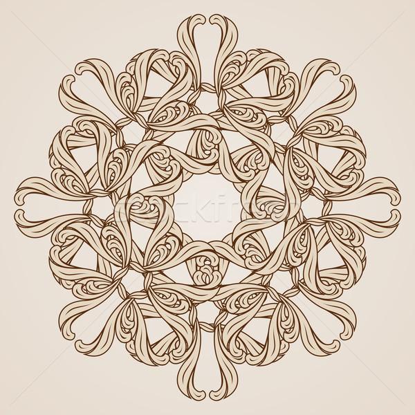 Zdjęcia stock: Kwiatowy · wzór · ilustracja · świetle · ciemne