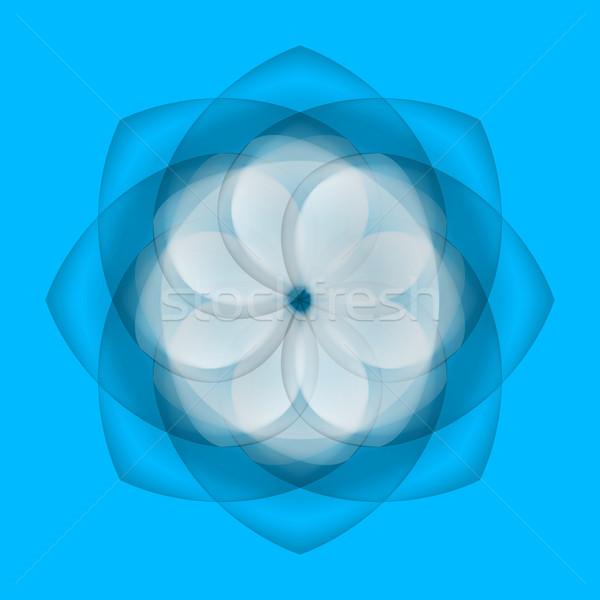 Abstract fiore blu illustrazione fiore bianco trasparente Foto d'archivio © dvarg