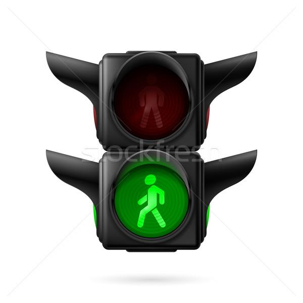 Pedestrian traffic light Stock photo © dvarg